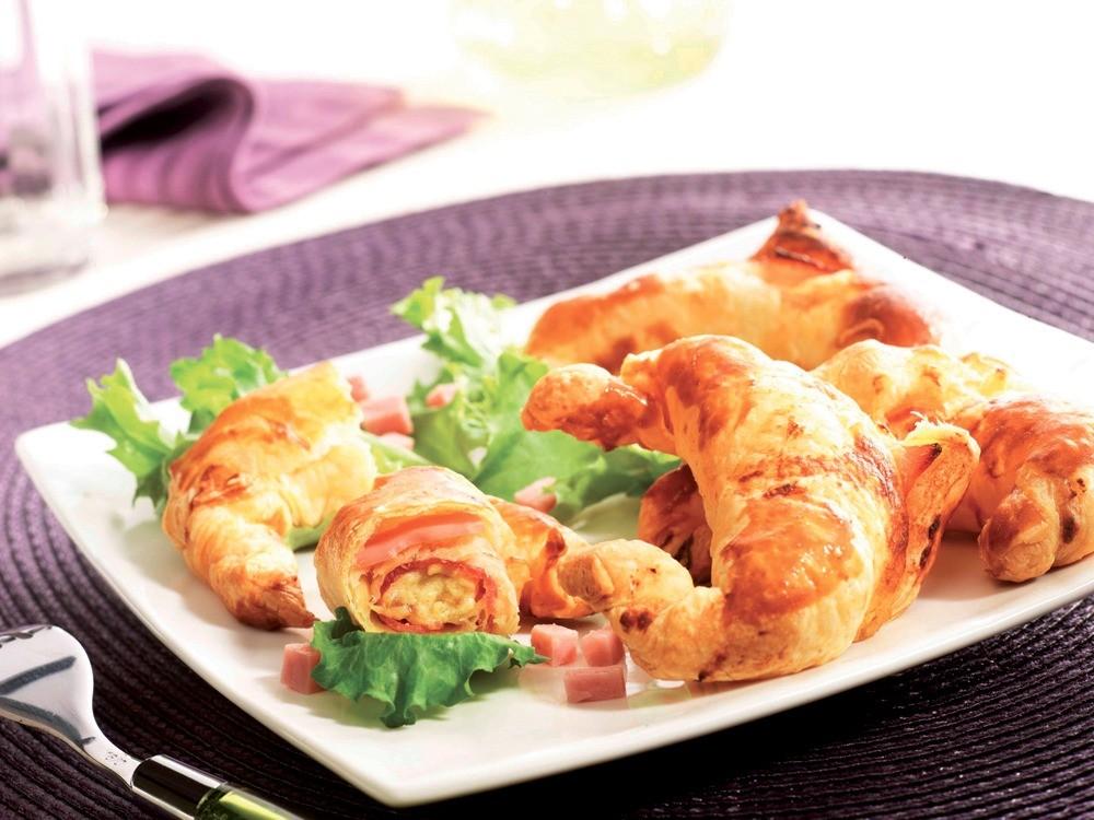 Croissants au jambon blanc