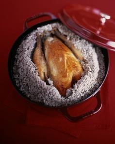 poulet en croute de sel